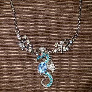 NWT♡ VINTAGE BETSEY JOHNSON SEAHORSE NECKLACE